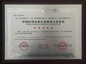 信用体系认证单位